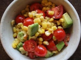corn avocado tomato