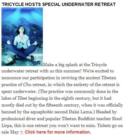 Buddhist underwater retreat