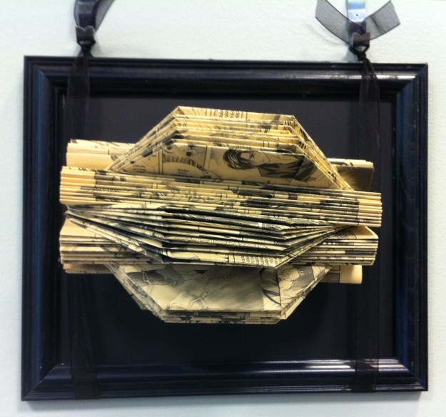 I love that this one is made from an anime book - art within art!  Totally inception.  :)