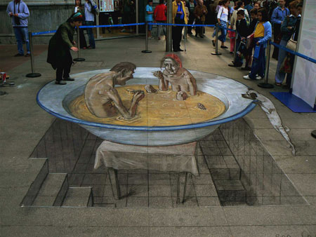 More amazing 3D graffiti images can be found here.