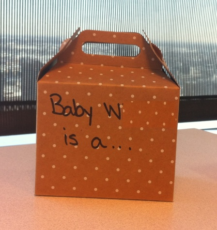 Baby W is a box?  Oh wait, I'm supposed to open it...