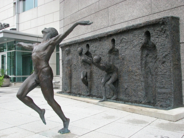 """Freedom"" by Zenos Frudakis; in Philadelphia, PA."