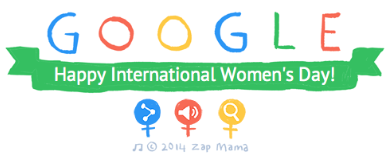 Google doodle International Womans Day 2014