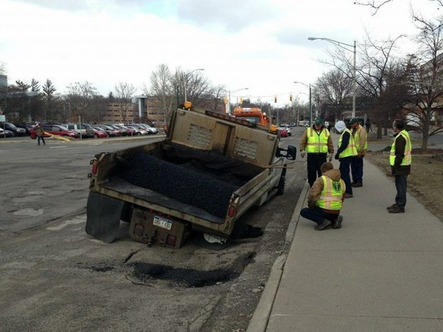 pothole repair truck