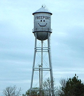 smiley water tower