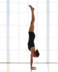 Handstand (Adho Mukha Vrksasana).