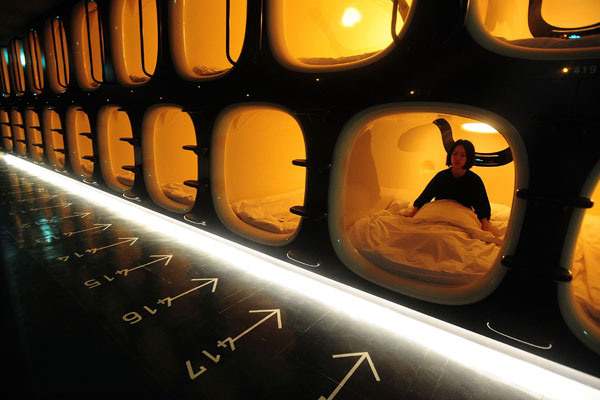 New Capsule Hotel Opens In Kyoto