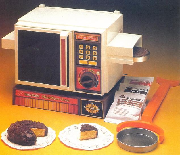 "7-8 years old: The EZ Bake Oven produced cakes that tasted like sweet flour bricks; but it was a LOT of fun to make ""real"" food in a toy."