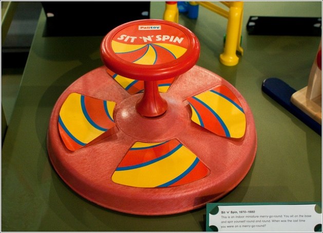 5-6 years old: Swinging and spinning were preferred past times; this toy fit that bill beautifully.