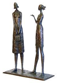 """The Conversation"" by Tom Corbin.  http://corbinbronze.com"