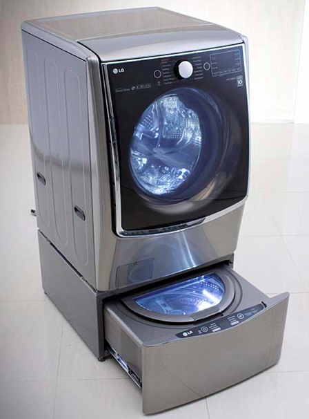 Not only is the washer very functional, but it's quite fashionable, too.  Win win!